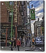 Spring And Mulberry - Street Scene - Nyc Acrylic Print by Madeline Ellis