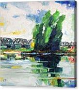 Spring At River Elbe Near Doemitz Germany Acrylic Print