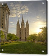 Spring At Temple Square Acrylic Print