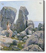 Spring At The Rock Shore  Acrylic Print