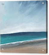 Spring Beach- Contemporary Abstract Landscape Acrylic Print