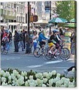 Spring Bike Event From New York To New Jersey Acrylic Print