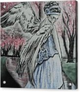 Spring Blossom Angel Acrylic Print by Carla Carson