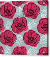 Spring Bright Seamless Floral Pattern Acrylic Print