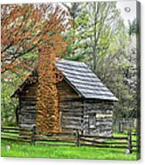 Spring Cabin I - Blue Ridge Parkway Acrylic Print by Dan Carmichael