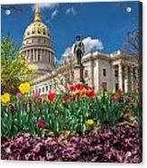 Spring Comes To Wv Capitol Acrylic Print