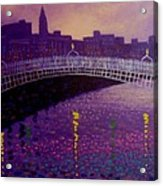 Spring Evening Ha Penny Bridge Dublin Acrylic Print