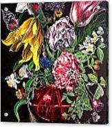 Spring Flower Bouquet Acrylic Print