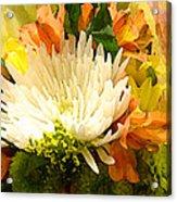 Spring Flower Burst Acrylic Print