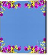 Spring Flower Frame Acrylic Print