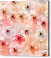 Spring Flowers Abstract 5 Acrylic Print