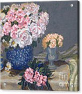 Spring In A Blue Vase Acrylic Print