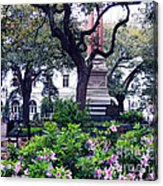 Spring In The Square Acrylic Print