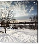 Spring Is Buried Just Below The Snow Acrylic Print