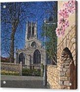 Spring Morning Brides Cottage Tickhill Yorkshire Acrylic Print