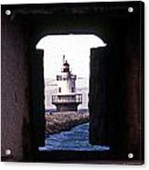 Spring Point Ledge Lightouse Acrylic Print by Skip Willits