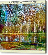 Spring Pond Photoart Father's Day Acrylic Print
