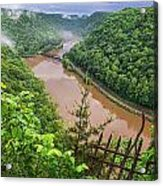 Spring Rains Comes To The New River Acrylic Print