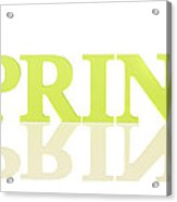 Spring Reflected Acrylic Print