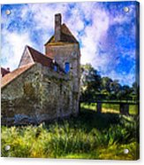 Spring Romance In The French Countryside Acrylic Print by Debra and Dave Vanderlaan