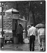 Spring Shower - Rainy Day In New York Acrylic Print