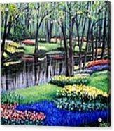 Spring Spendor Tulip Garden Acrylic Print