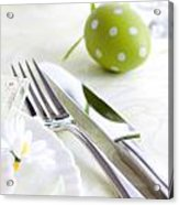 Spring Table Setting Acrylic Print by Mythja  Photography