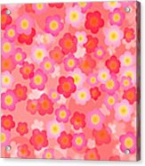 Spring Time Cherry Blossom Seamless Tile Background Acrylic Print