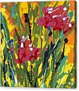 Spring Tulips Triptych Panel 3 Acrylic Print