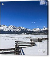 Spring View Of The Sawtooth Mountains Acrylic Print