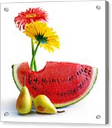 Spring Watermelon Acrylic Print by Carlos Caetano