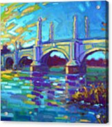 Springfield Memorial Bridge Acrylic Print by Caleb Colon