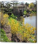 Springtime At The Japanese Gardens Acrylic Print