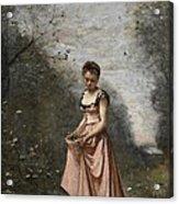 Springtime Of Life Acrylic Print by Jean Baptiste Camille Corot