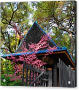 Springtime Pagoda Acrylic Print