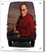 Sprinter Dalai Lama Acrylic Print