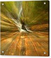 Spruce Flats Falls Explosion Acrylic Print