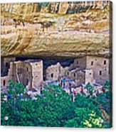 Spruce Tree House On Chapin Mesa In Mesa Verde National Park-colorado  Acrylic Print