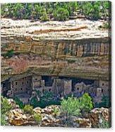 Spruce Tree House Pueblo On Chapin Mesa In Mesa Verde National Park-colorado Acrylic Print