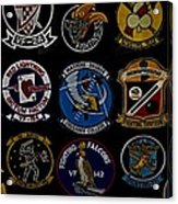 Squadron Patch Collage Acrylic Print
