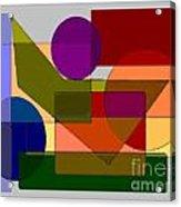 Squares Circles Acrylic Print
