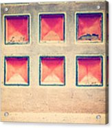 Squares In Wall Acrylic Print