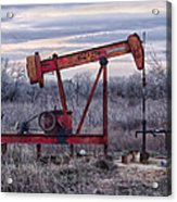 Squeaky Old Pump Jack Acrylic Print by Kelly Kitchens