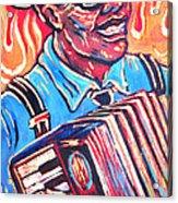 Squeezebox Blues Acrylic Print by Robert Ponzio