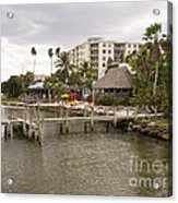 Squid Lips Restaurant  At The Eau Gallie Causeway Over The India Acrylic Print