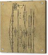 Squire Whipple Truss Bridge Patent Acrylic Print