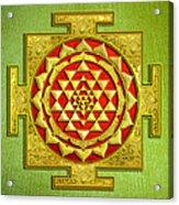 Sri Gold Yantra Acrylic Print by Lila Shravani