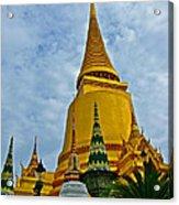 Sri Lanka Pagoda At Grand Palace Of Thailand In Bangkok Acrylic Print