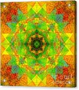 Sri Yantra Variation Mandala Acrylic Print
