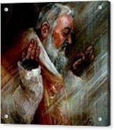 Ss Padre Pio At Matins Acrylic Print